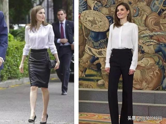 西班牙王后到底有多会穿?看她的白衬衫搭配,你就知道啦!